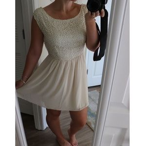 Off white homecoming dress